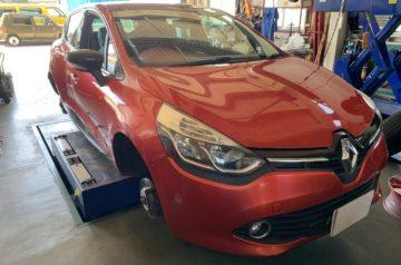 ルノー ルーテシア ドライブレコーダー取付 新品ホイール交換